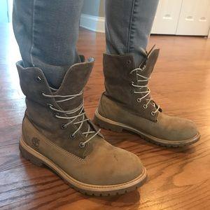 Womens Timberland Teddy Fleece Fold Down Boots 7.5